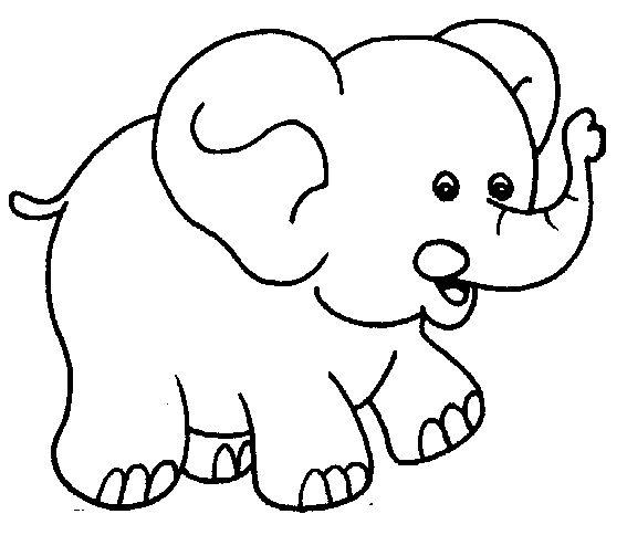 Bé tập tô màu con voi