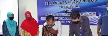 Penandatangan MoU antara PT Medco E&P Tarakan dengan Dinas Arsip dan Perpustakaan Daerah Kota Tarakan
