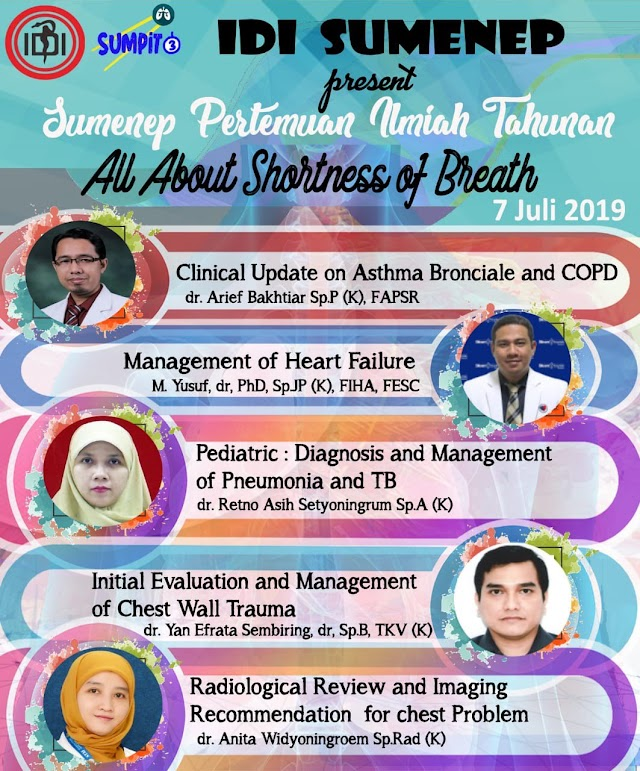 "Sumenep Pertemuan Ilmiah Tahunan ""All About Shortness of Breath"" 7 Juli 2019, C1 Hotel Sumenep"