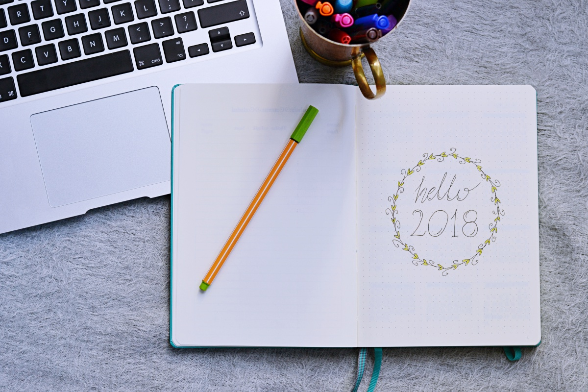 Bullet Journal - rozkład na 2018 rok