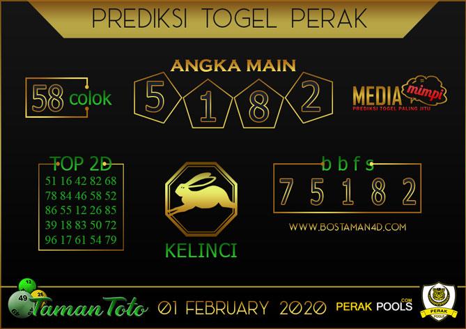 Prediksi Togel PERAK TAMAN TOTO 01 FEBRUARY 2020