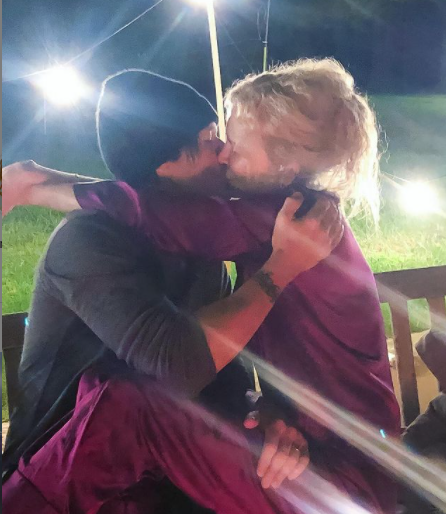 Nicole Kidman celebrates Valentine's Day with husband Keith Urban with kisses