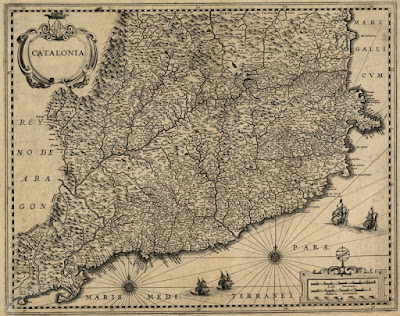 Este mapa es de 1653 y Lérida y Tortosa ya eran catalanas