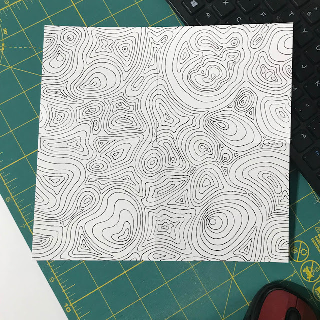 Ripples Line Drawing by Thistle Thicket Studio. www.thistlethicketstudio.com