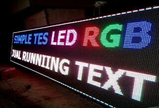 Jual Running Text Warna