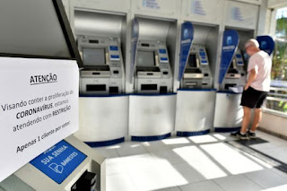 Coronavírus: bancários solicitam ao Governo do Estado suspensão imediata do atendimento nas agências bancárias da PB