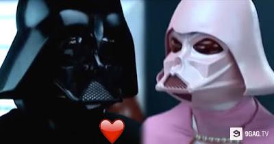 Star Wars masking parody Darth Vader