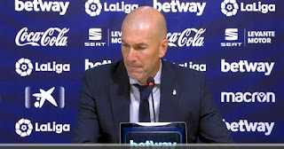 Zidane heap praise on Thibaut Courtois performance in Real Madrid win over Levante