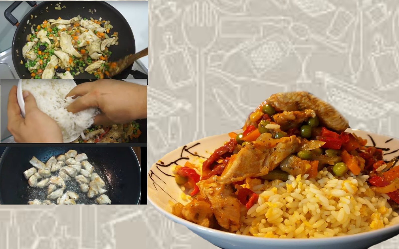 κοτοπουλο,τηγανητο ρυζι,συνταγη