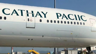 Cathay Pacific spells own name wrong on new plane