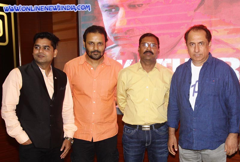 From left Akhilesh Pandey, Karan Kashyap, Ravi Shukla and Lalit Parimoo during trailer launch of upcoming film Kathor