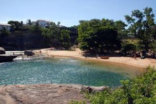 Praia das Castanheiras em Vitória