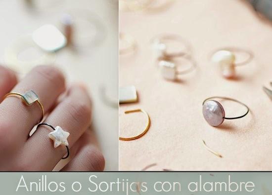 anillos, sortijas, alambre, tutoriales, bisutería, manualidades