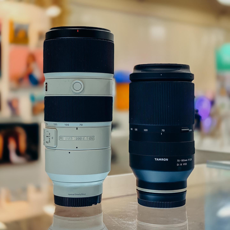Сравнение габаритов Sony 70-200mm f/2.8 GM и Tamron 70-180mm f/2.8