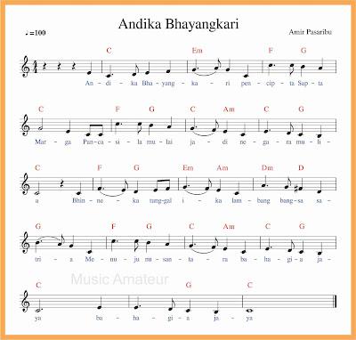 not balok lagu andika bhayangkari