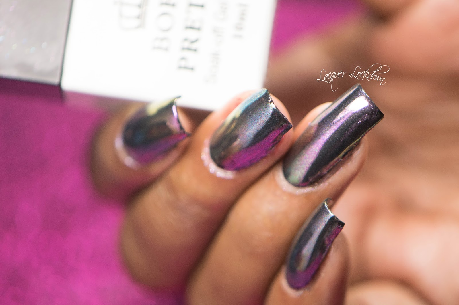 Lacquer Lockdown Born Pretty Store Galactic Multichrome Mani Nail