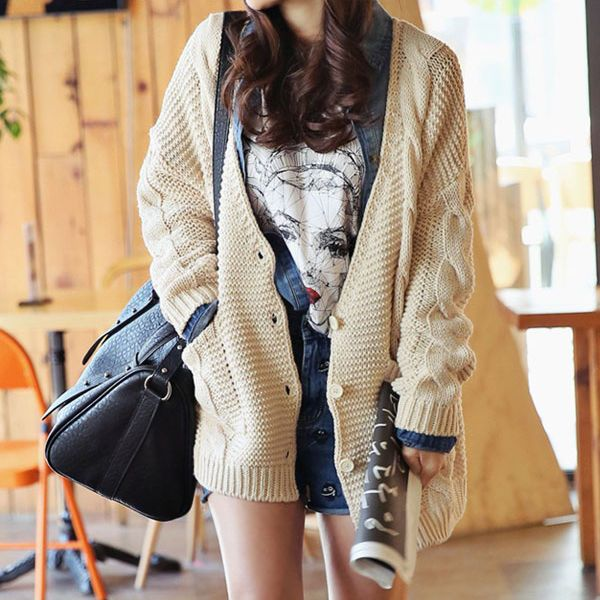 Model Cardigan Korea Lucu Ala Kpop Style