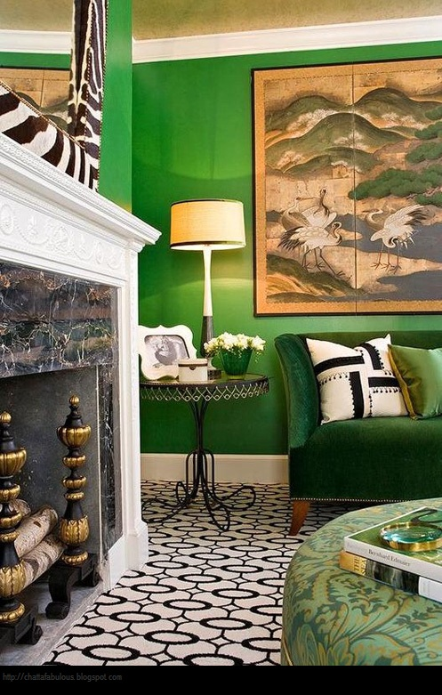 Green Interior Ideas For Your Home: Renée Finberg ' TELLS ALL ' In Her Blog Of Her Adventures