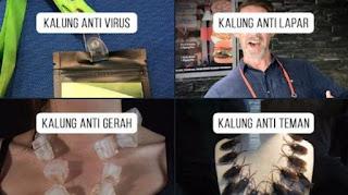 Kocak! Netizen Tandingi Kalung Anti Corona, dari Kalung Anti Gerah hingga Anti Lapar