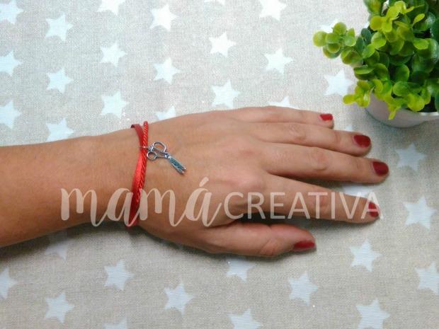 pulsera roja tijeritas