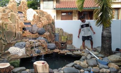 Jasa Pembuatan Relief Tebing Air Terjun di Cibinong - SuryaTaman