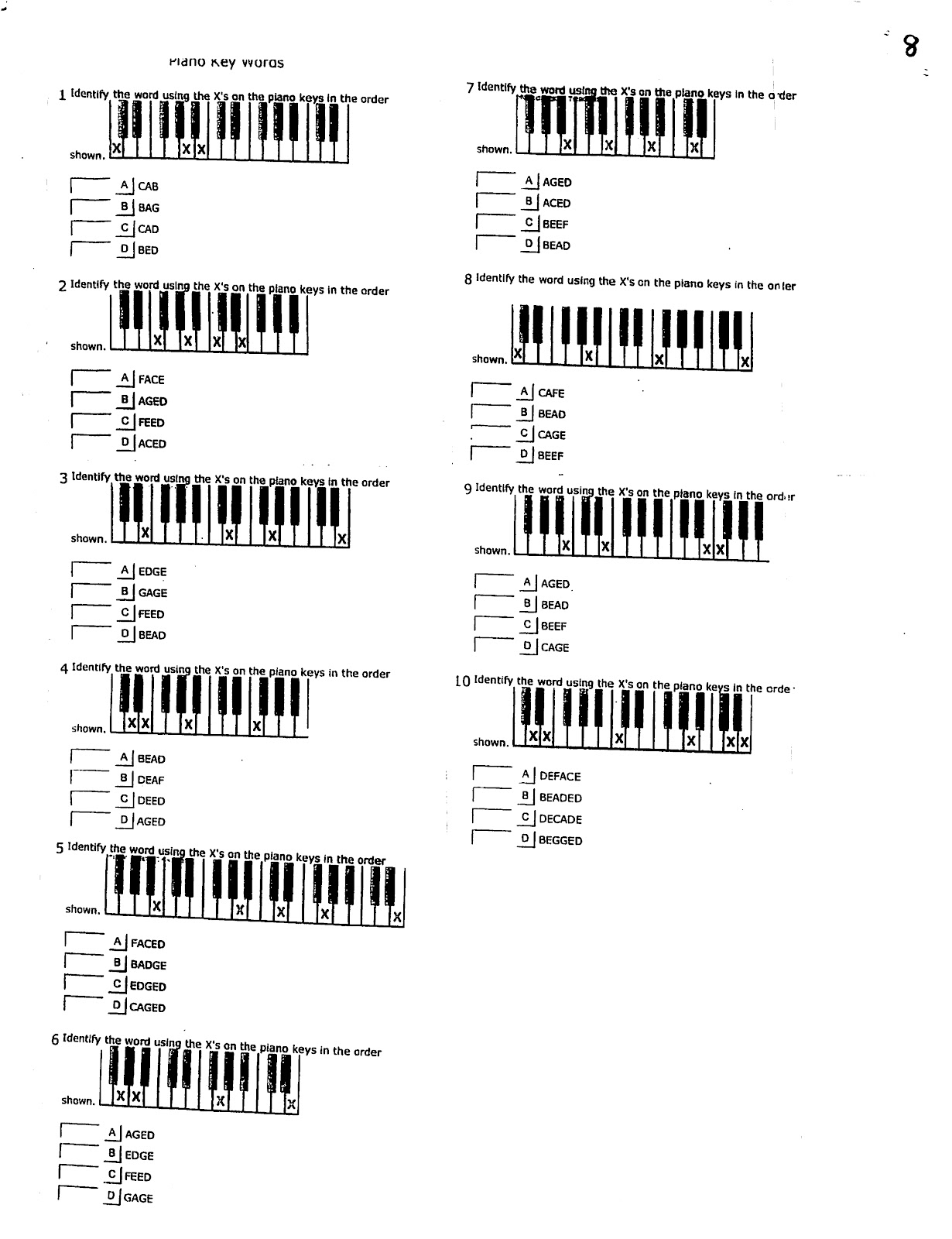 Miss Jacobson S Music Theory 2 Musical Alphabet On The