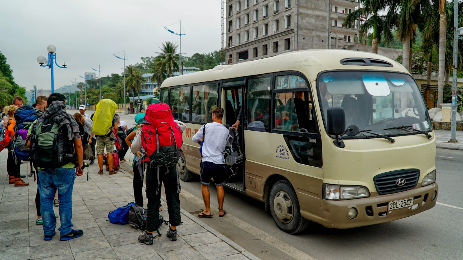 Our transport to Halong dropped us off near Bai Chay tourist wharf