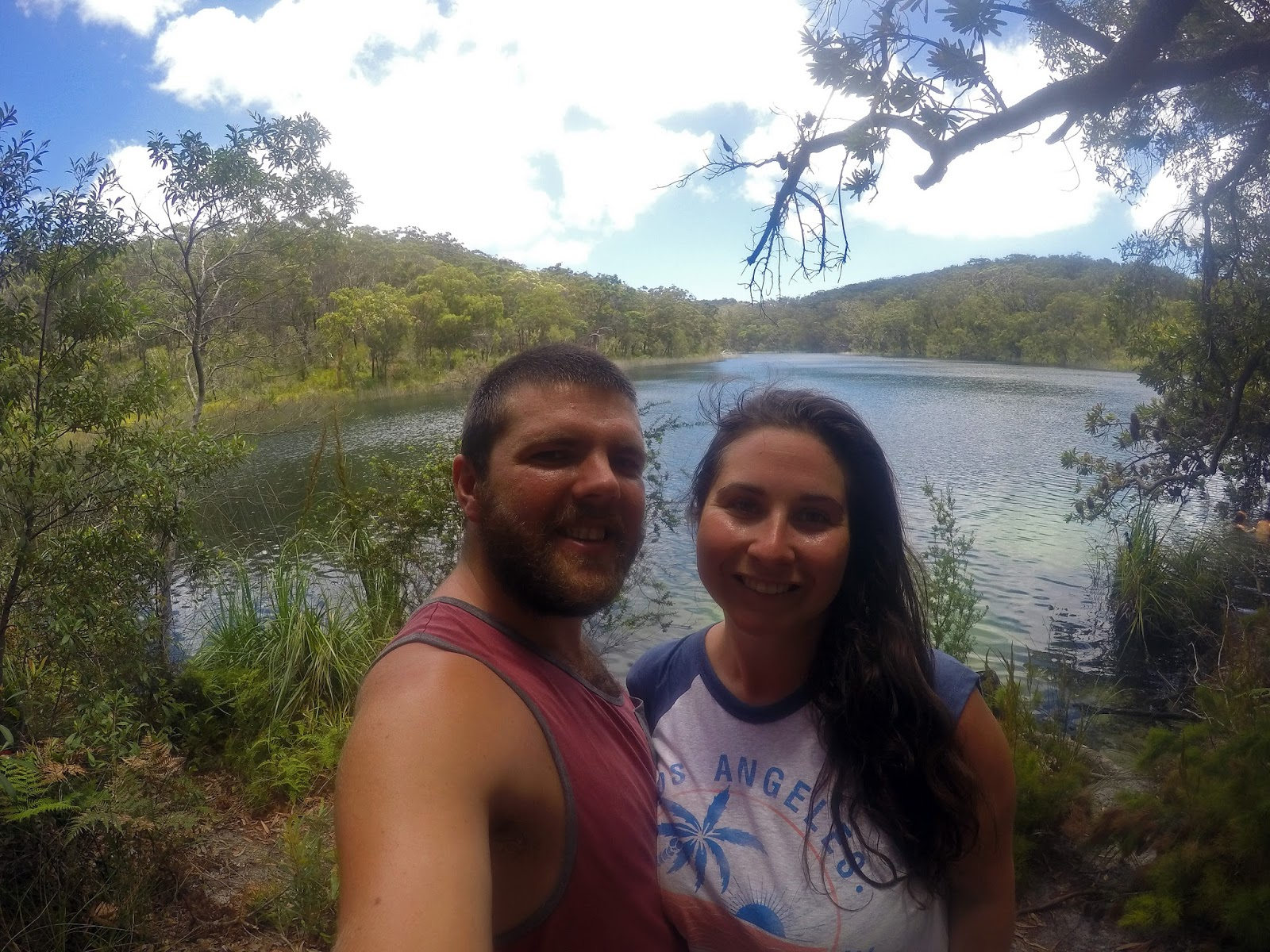 Couple at Blue Lake Stradbroke Island