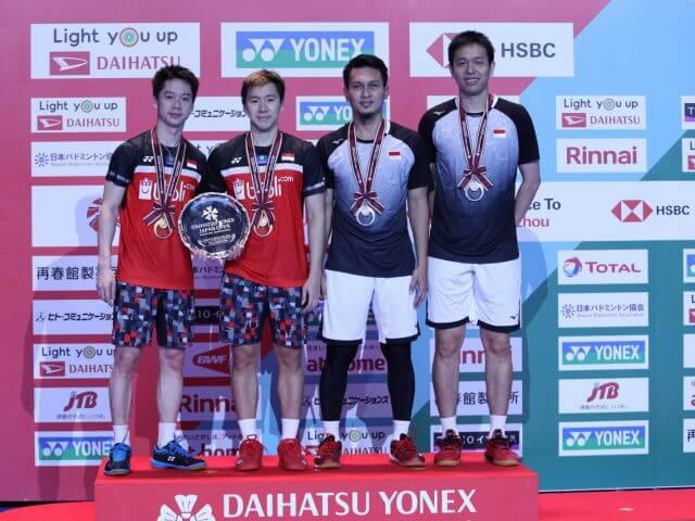 Hasil Final Japan Open 2019: Indonesia Juarai Ganda Putra