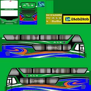 Livery Bussid Sumatera ALS Bimasena SDD