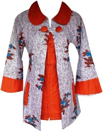 Model Baju Batik kombinasi Modern Terbaru 2016