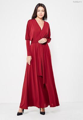 Vestidos de noche largos rojos