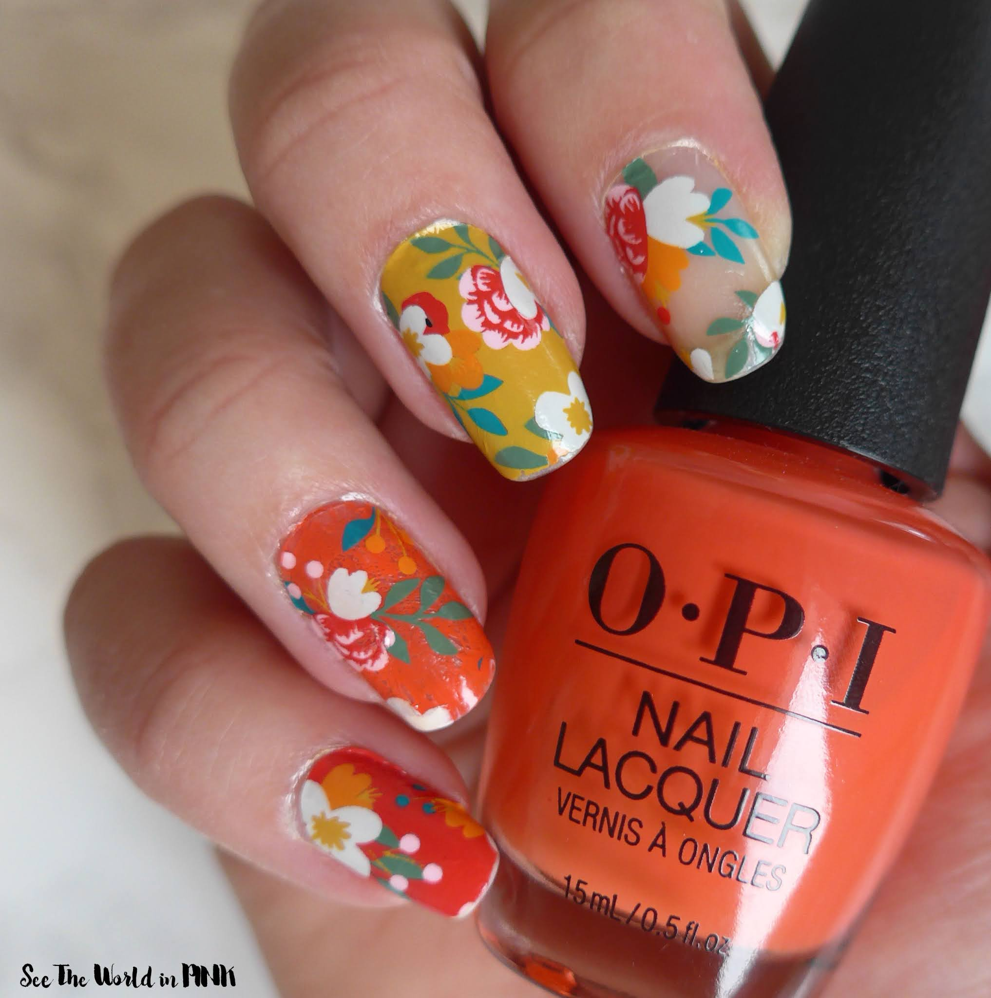 Manicure Monday - Fall Floral Nails
