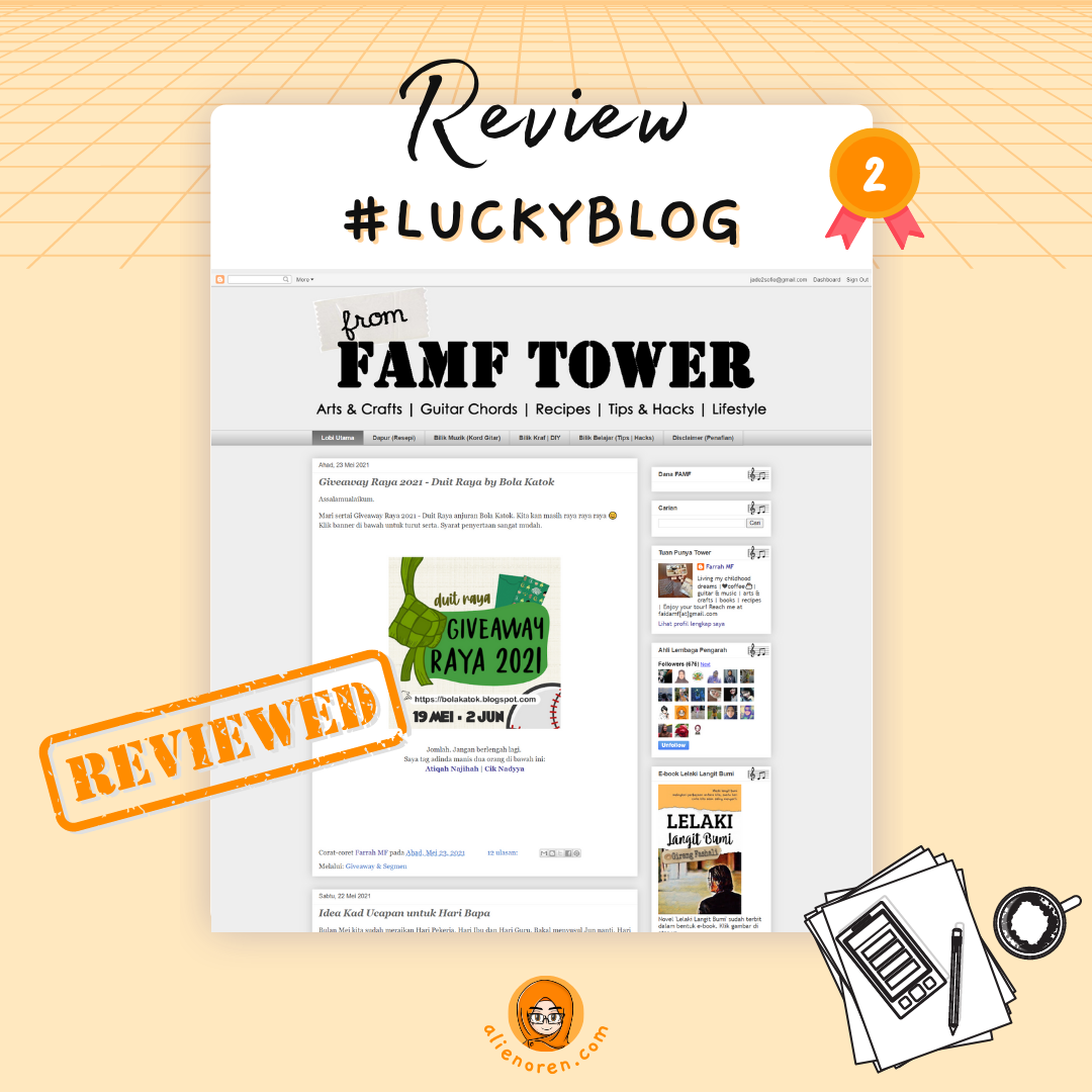 Review blog From FAMF Tower by AO