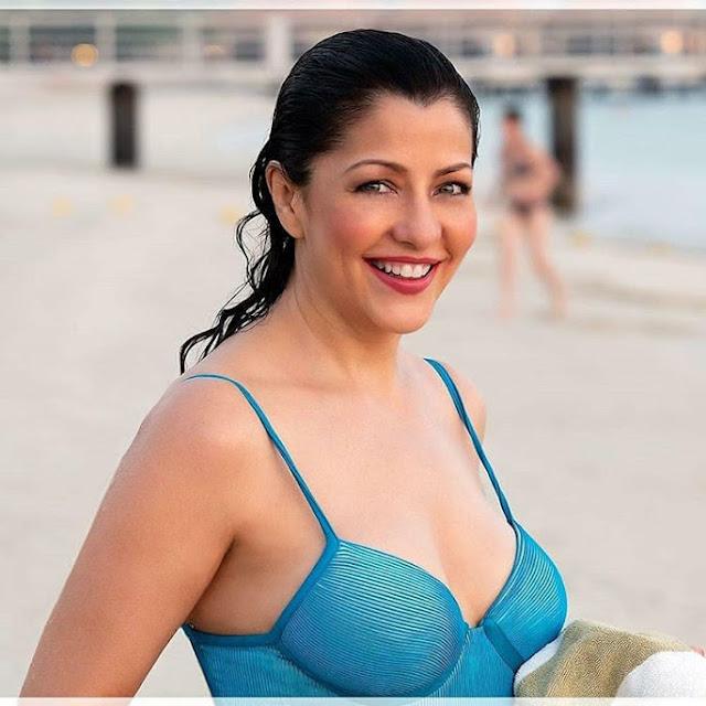 Bollywood Actress Aditi Govitrikar Latest Photos Shows Off Her Sexy Body in Blue Bikini Actress Trend
