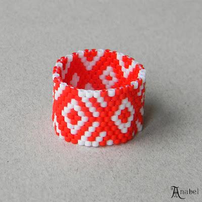 купить кольцо из бисера яркие украшения в этническом стиле славянские