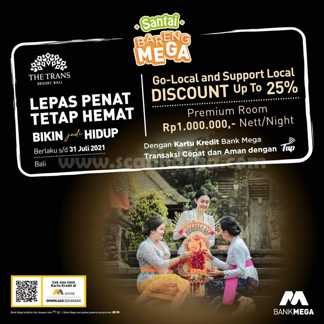 Promo The Trans Resort Bali Diskon 25% dengan Kartu Kredit Bank Mega