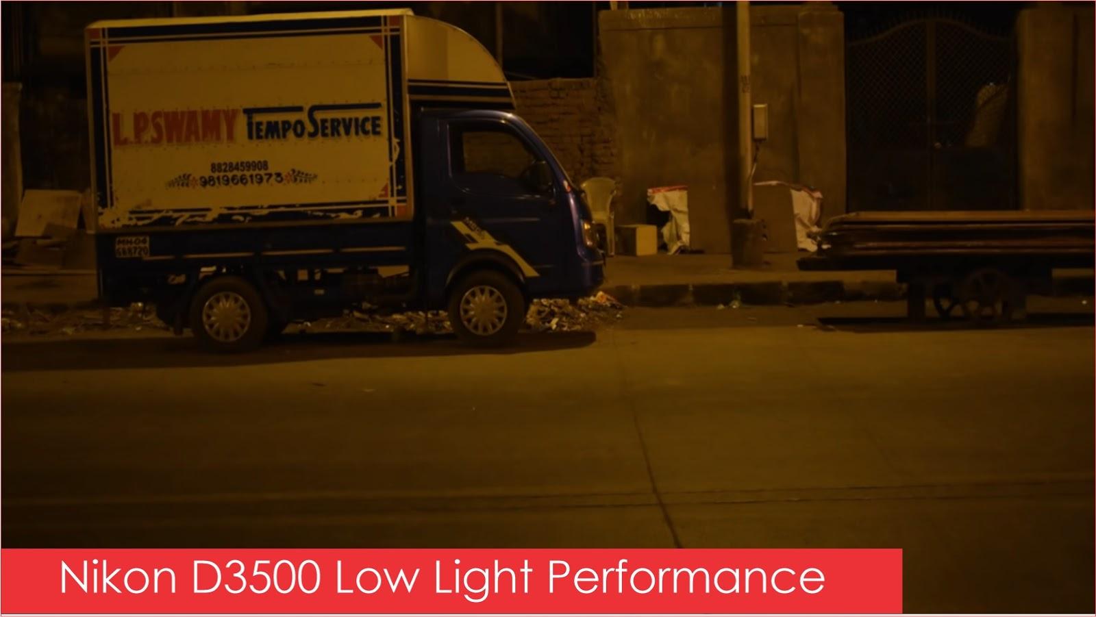 Nikon D3500 Camera Low Light Image Performance
