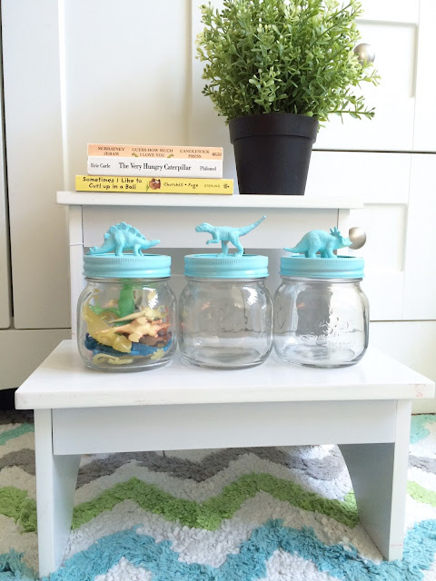DIY Dinosaur Mason Jars Party favor Harlow and Thistle 9