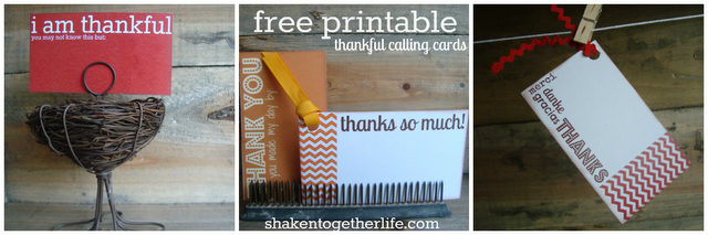 thankful calling cards