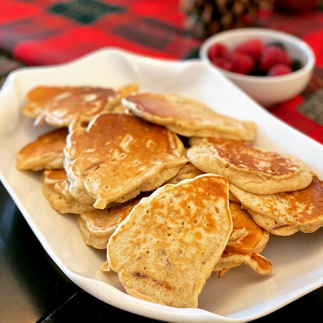 Apple Peel Pancakes on a Platter