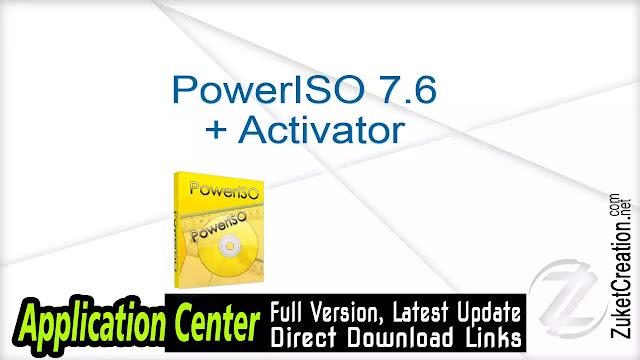 PowerISO 7.6 + Activator