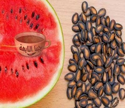 10 فوائد بذر البطيخ المحمص للجسم وزيادة الوزن والرجيم والبشرة وللرجال