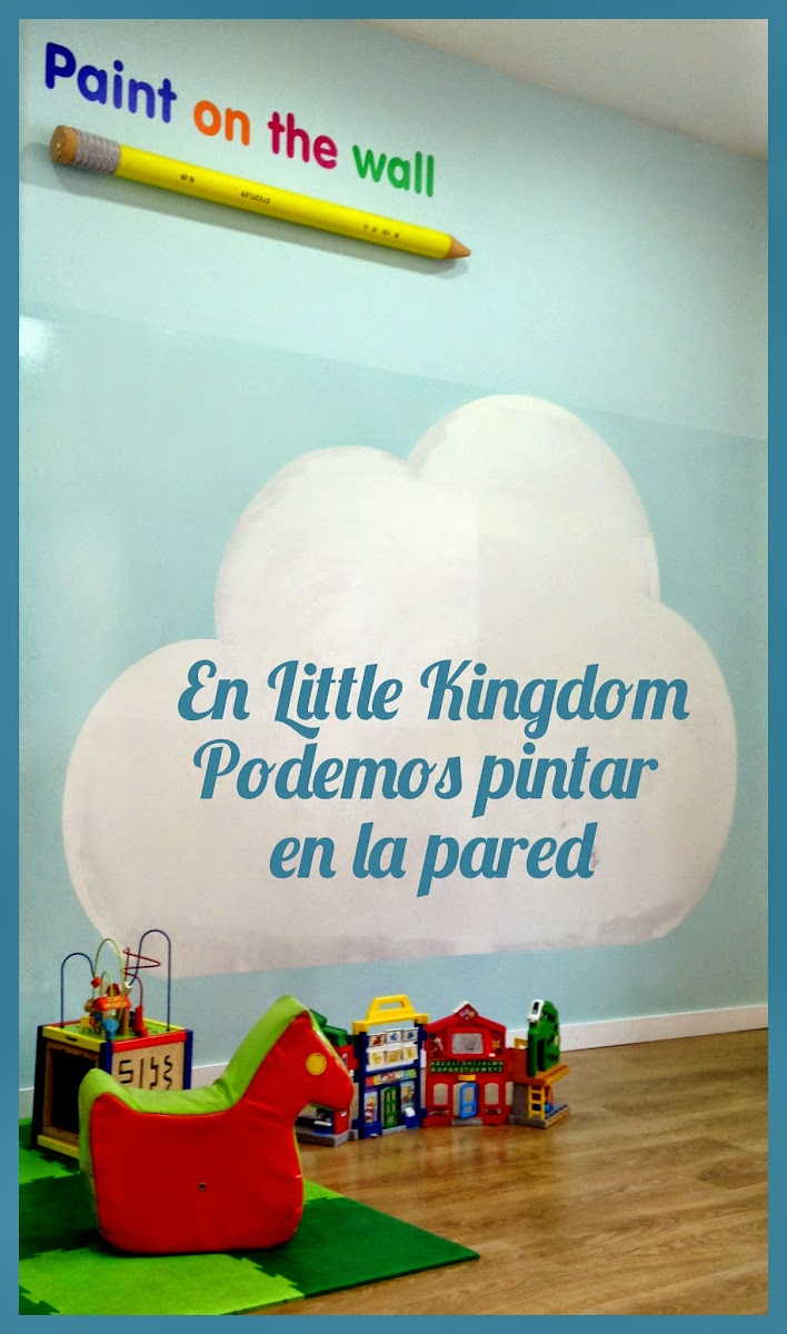 Nube para pintar en la pared en Little Kingdom