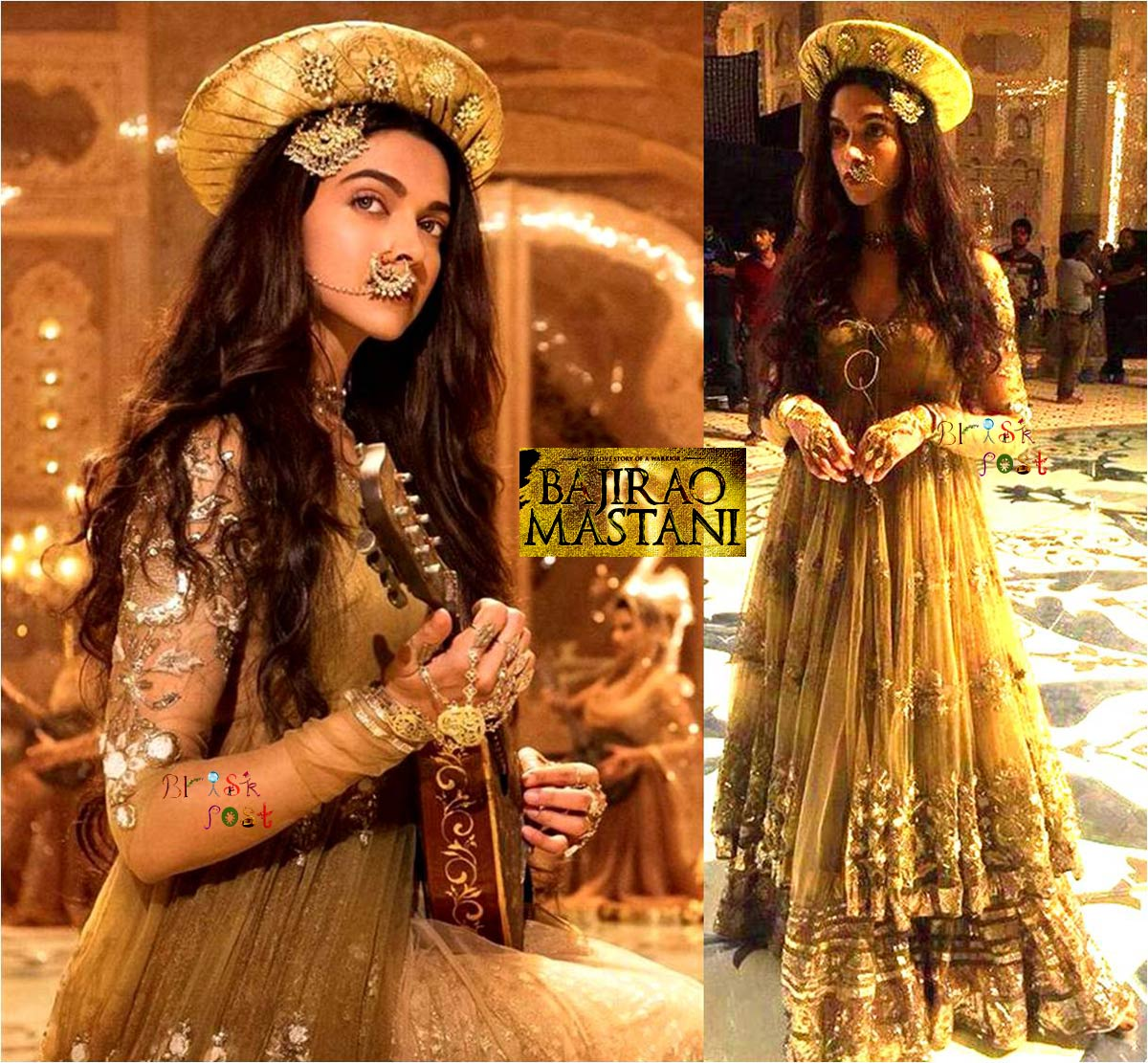 Deewani Mastani Deepika Padukone of Bajirao Ranveer Singh as Golden Apsara in Mughal Princess