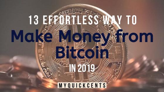 Make Money from Bitcoin