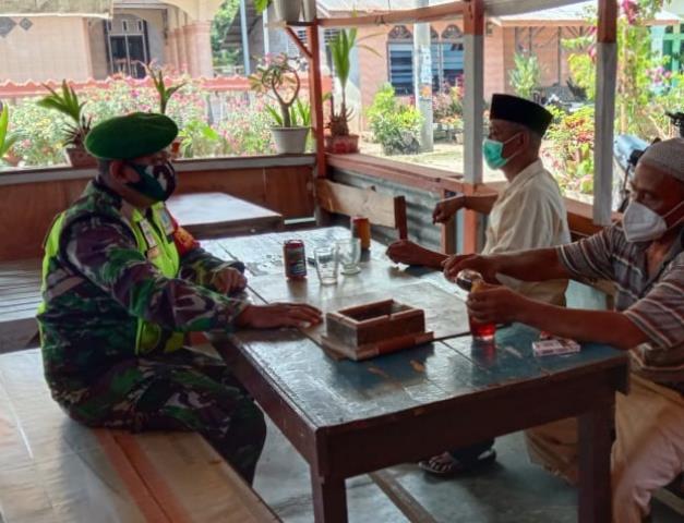 Operasi PPKM Skal Micro Dilaksanakan Personel Jajaran Kodim 0207/Simalungun Diwilayah Binaan