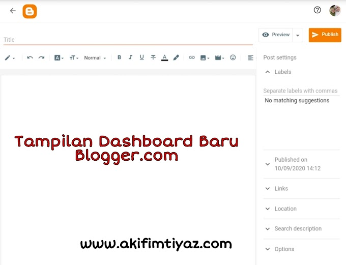 Blogger's New Interface Is Now Available Automatically