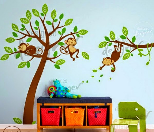 the Nursery Design with Wall Decals