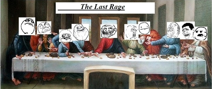 The Last Supper with Rage Comics